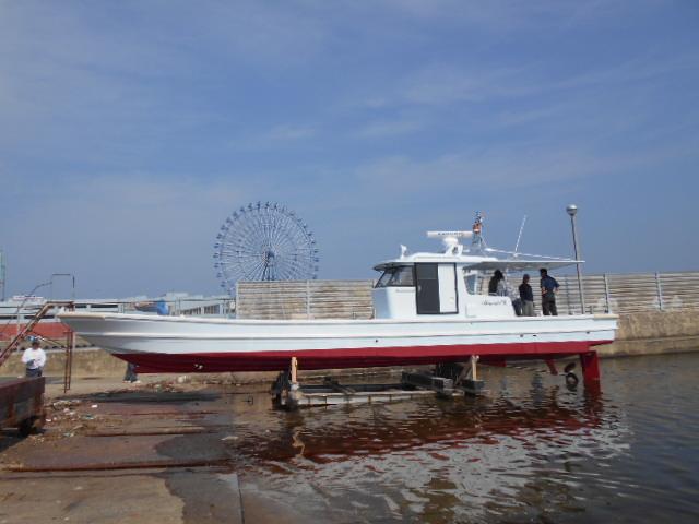 広島カキ作業船(リース事業)回航 2019/8/5