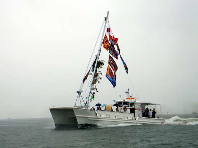 広島カキ養殖本船 洋平丸 試運転