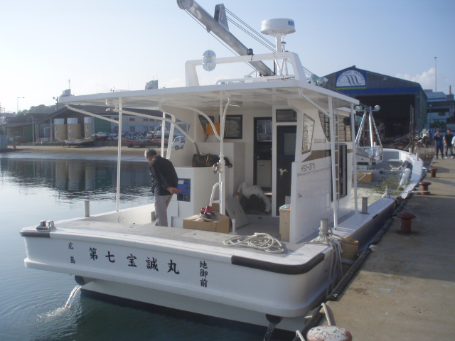 広島カキ養殖本船 第七宝誠丸